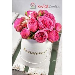 Czerwone róże w małym boxie